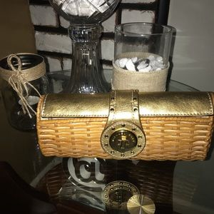 Michael Kors wicker /Straw Clutch